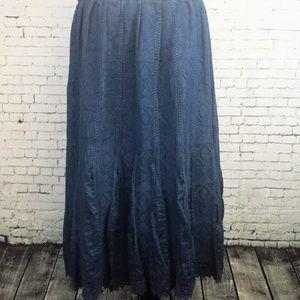 COLDWATER CREEK Boho Peasant Skirt - Women's P 14